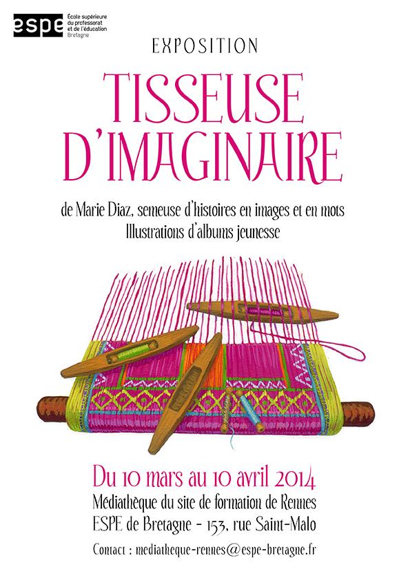 Expo Tisseuse d'Imaginaire ESPE Rennes mars14