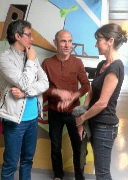 Didier Guyon, de la Cie Fiat Lux, Paskal Martin, des Ateliers Art Terre et Nathalie Larvol, Ligue de l'enseignement .