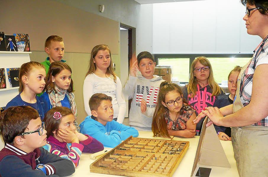 Les enfants ont participé à quatre atelier dans le cadre des mots familiers